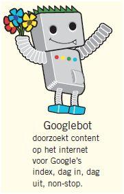 De robots van Google doorzoeken je website inhoud.