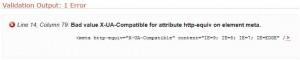 HTML validatie error.