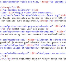 html schone code zonder inline stijl.